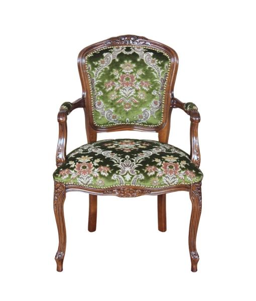 Poltrona parigina in velluto classica da salotto, verde
