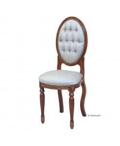 Sedia di piccole dimensioni con schienale ovale, Art. P-B23