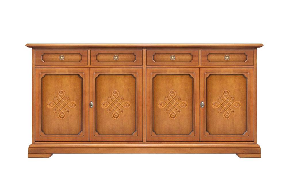 Credenza Con Cucina : Credenza cucina ante cassetti legno classica con