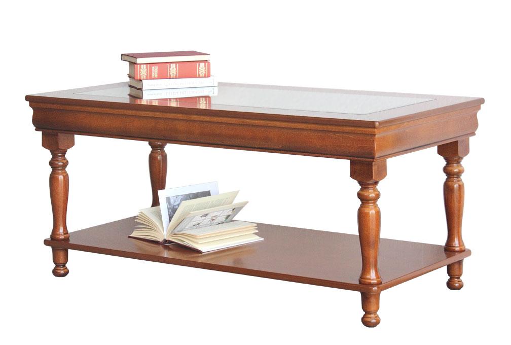 Tavolino salotto rettangolare in legno, tavolino basso classico ...