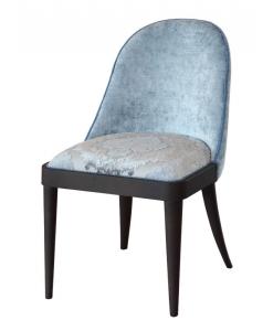 Sedia in legno imbottita da salotto, sala da pranzo o camera da letto
