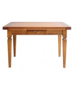Tavolo da pranzo apribile in legno massello arte povera