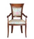 Sedia capotavola imbottita con braccioli, per salotto o sala da pranzo, Art. FAG-42