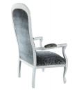 poltrona da salotto, voltaire, poltrona, arredo da soggiorno, sedia con braccioli, poltrona classica, poltrona in legno, poltrona imbottita, design italiano