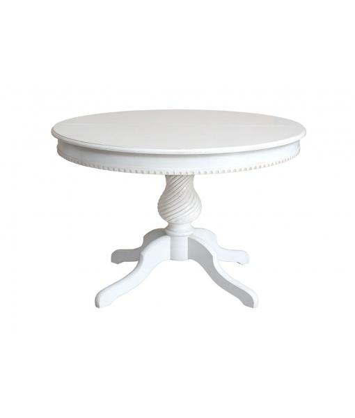 Tavolo laccato tondo da pranzo in legno, Art. 1312-BI