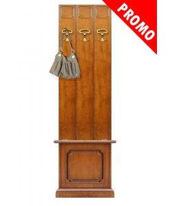 Attaccapanni con cassapanca ingresso 50 cm, soluzione mobili per ingresso, mobili classici, attaccapanni in legno