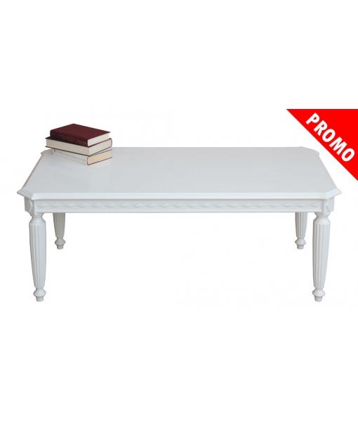 Tavolino in legno laccato bianco da salotto, Art. ER-236