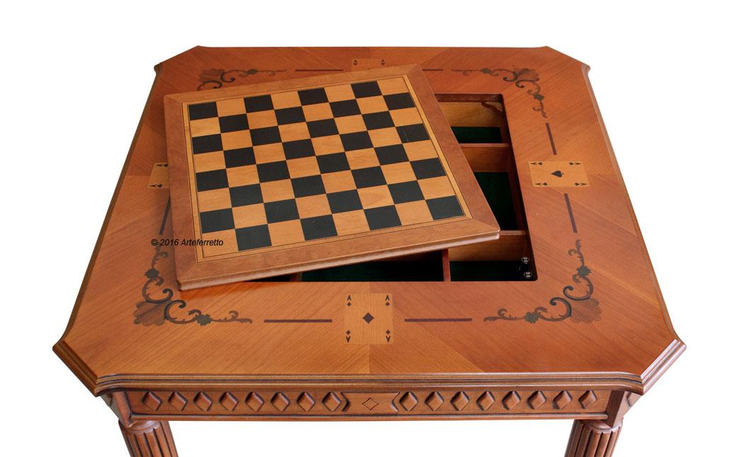 Tavolo da gioco quadrato arteferretto - Domino gioco da tavolo ...