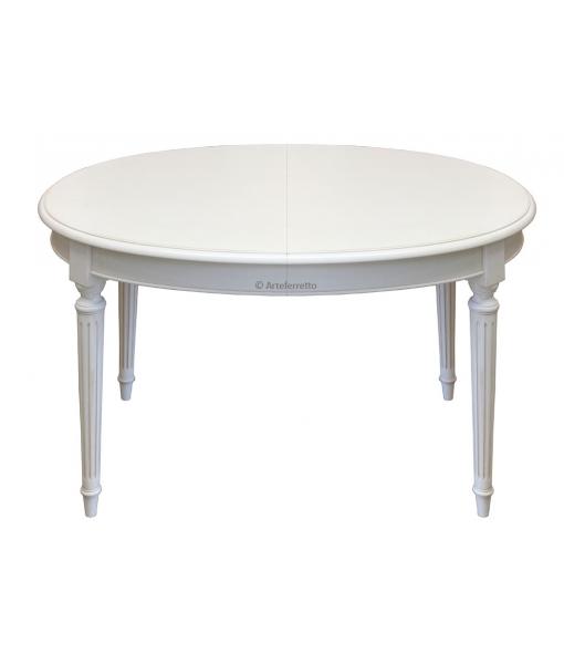 Tavolo ovale laccato per sala da pranzo stile impero, Art. FV-39AV