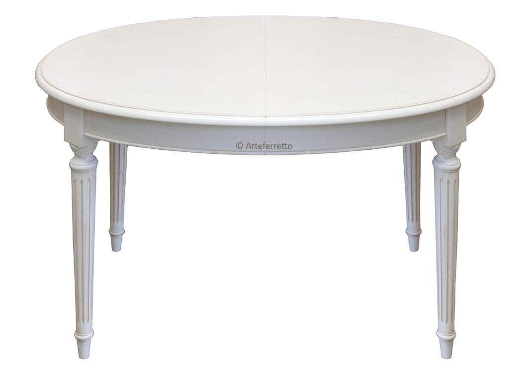 Tavolo ovale laccato 130 210 cm empire arteferretto for Tavolo ovale bianco design