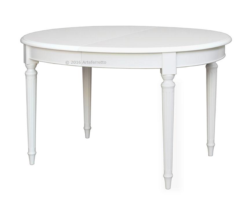 Tavolo Ovale Bianco : Tavolo ovale laccato 130 210 cm u201dempireu201d arteferretto