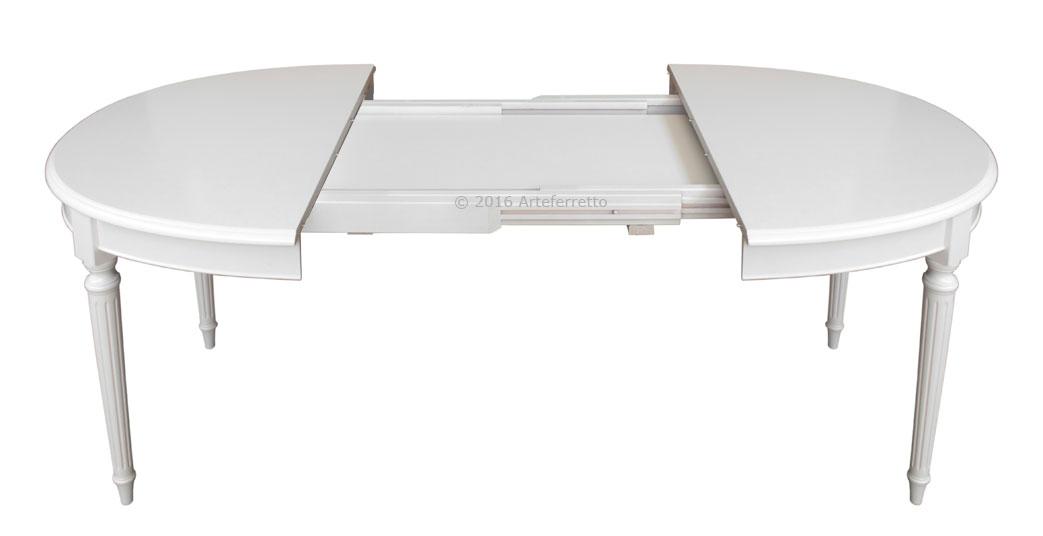 """Tavolo ovale laccato 130-210 cm """"Empire"""" - ArteFerretto"""