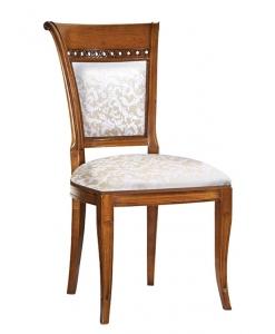 Sedia classic in legno con imbottitura, per sala da pranzo, cucina, salotto