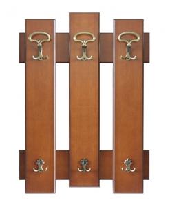 Pannello appendiabiti 3 elementi da parete con 6 ganci da ingresso, salotto o camera da letto