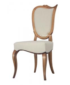 Sedia imbottita in legno di design