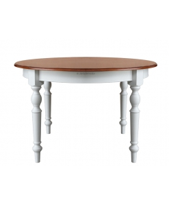 Tavolo rotondo da pranzo, tavolo 120 cm per pranzo