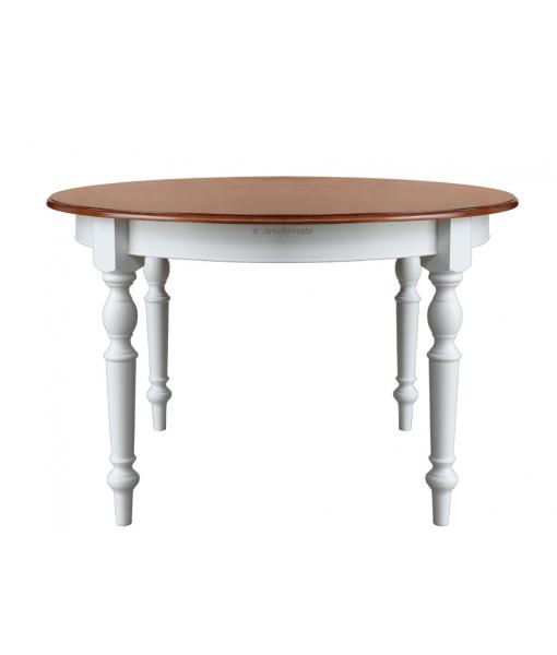 Tavolo rotondo bicolore 4 gambe FV-41-BIC