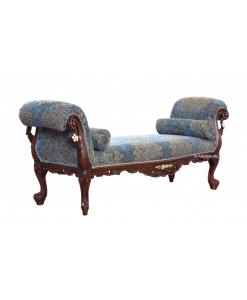 Panca classica in legno imbottita, perfetta come fondoletto o da salotto