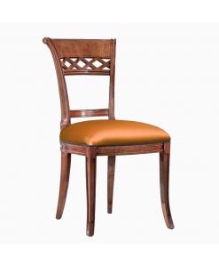 Sedia classica imbottita per sala da pranzo