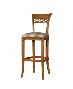 Sgabello in legno con imbottitura, sgabello da bar o cucina