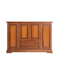 Credenzone multifunzionale in legno classico da salotto, cucina, studio o craft room