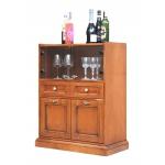 Mobile Bar in legno con vetrina