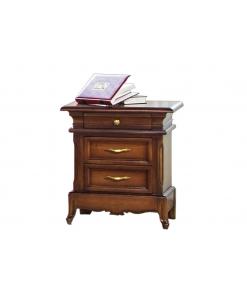 Comodino classico intagliato di alto pregio, camera da letto classica