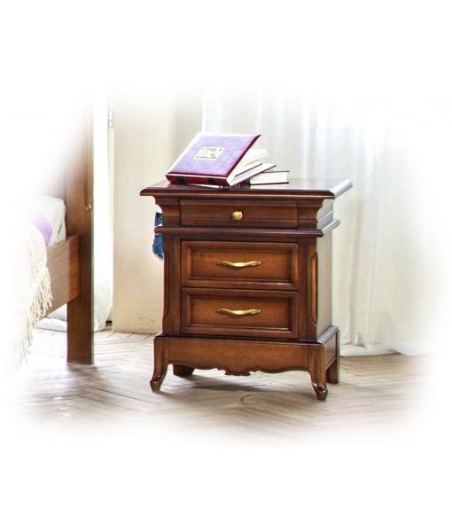 Comodino in stile classico per camera da letto in legno