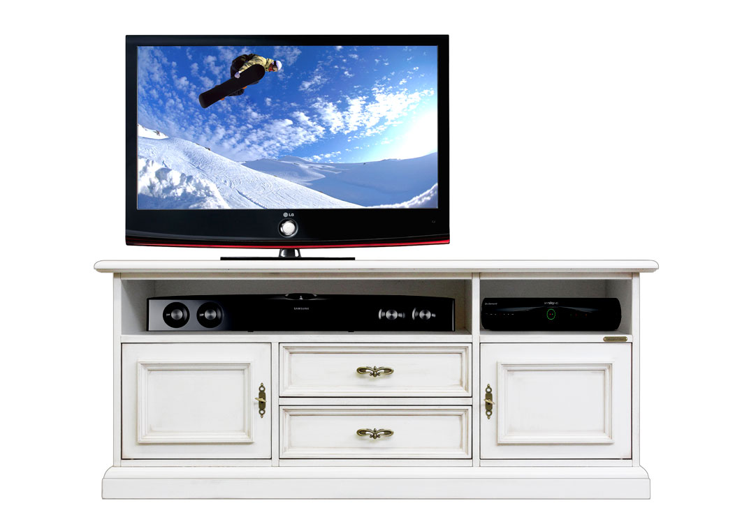 Mobile tv basso per soundbar in legno laccato - ArteFerretto