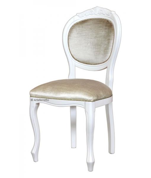 Sedia elegante laccata bianca