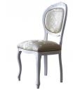 Sedia bianca imbottita, per cucina, sala da pranzo o salotto
