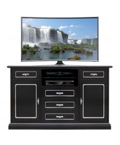 mobile tv multiuso, mobile tv nero, credenza nera, porta tv in legno