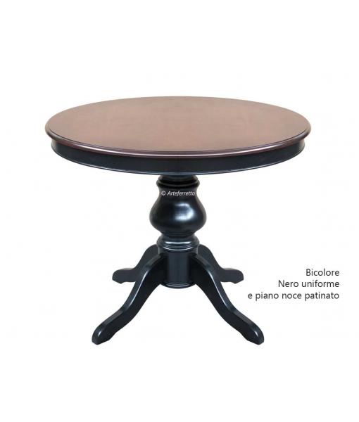 Tavolo da pranzo rotondo allungabile con gambone centrale