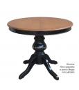 Tavolo bicolore diametro 100 cm nero / ciliegio
