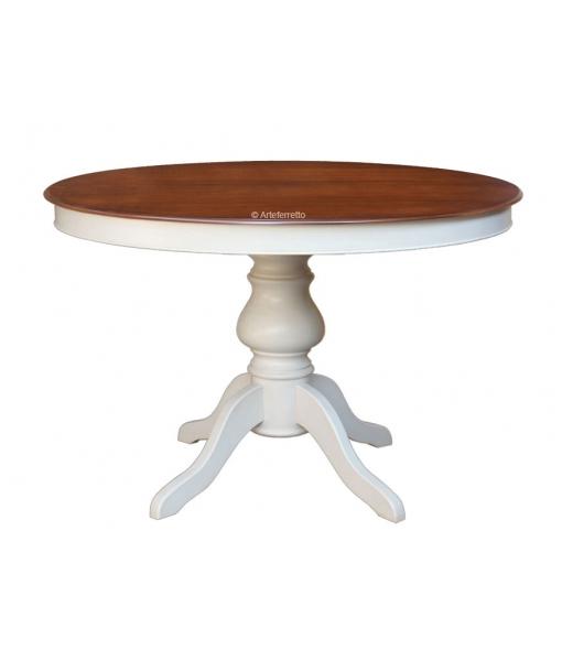 Tavolo rotondo bicolore da sala da pranzo, Art.  446-BIC