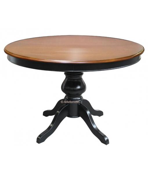 Tavolo classico da sala da pranzo bicolore ciliegio e nero