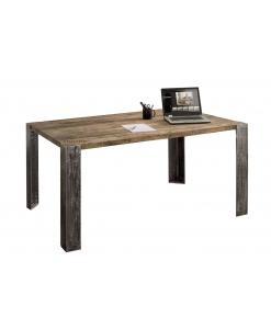Tavolo con piano fisso in rovere e gambe in metallo, stile industrial