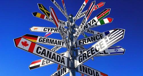 emigrazione, direzioni. cartelli,