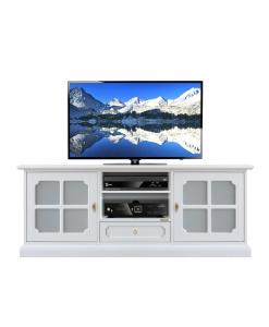 Mobile per tv in legno con laccatura bianca, per salotto/soggiorno