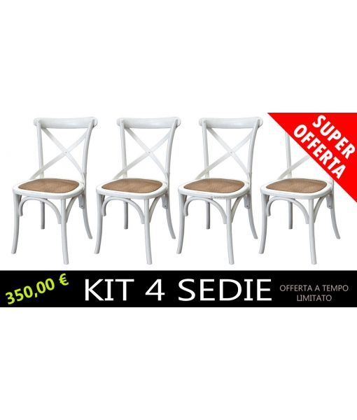 Fornitura 4 sedie bianco art. E-6806-B