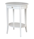 Tavolino ovale con cassettino e pomello Swarovski