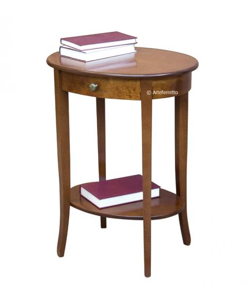Tavolino ovale con cassettino ER-518