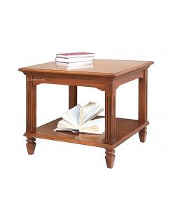 Tavolino quadrato intarsiato in stile impero