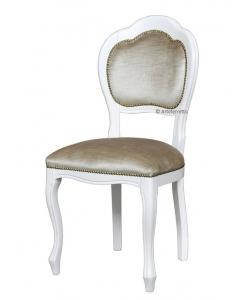 Sedia laccata in stile seduta e schienale tappezzati