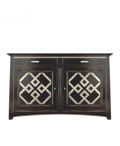 Credenza Black And Gold