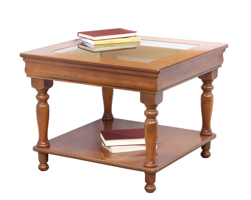 Tavolino basso da salotto piano in cristallo tavolino quadrato