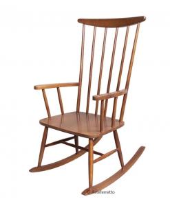 Sedia a dondolo in legno di faggio