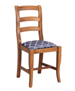 Sedia tradizonale con seduta imbottita