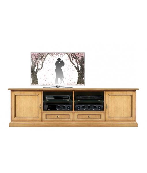Mobile tv tinta light, arredo soggiorno, Art. 4010-QP-BI