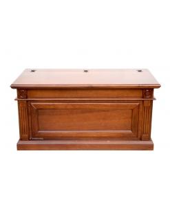 Cassapanca in legno in stile classico, per l'ingresso o come capiente porta legna, Arteferetto